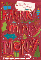 Merry Merry Thank You Notes (8 cards/8 envelopes) Designer Greetings Christmas Thank You Notes