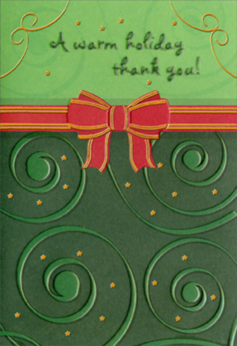 Warm Holiday Christmas Thank You Note Cards 8 Pack By Designer