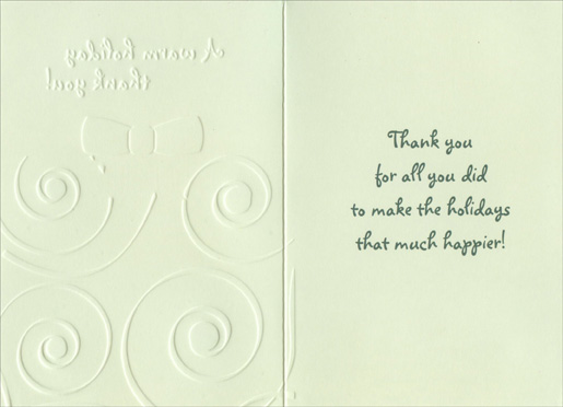 Warm holiday christmas thank you note cards 8 pack by designer inside m4hsunfo