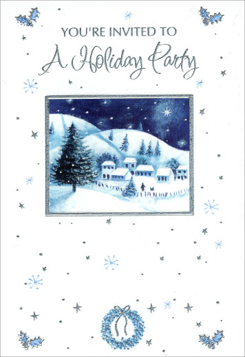 Snow Scene - Package of 8 Holiday Party Invitations 735882218587 ...