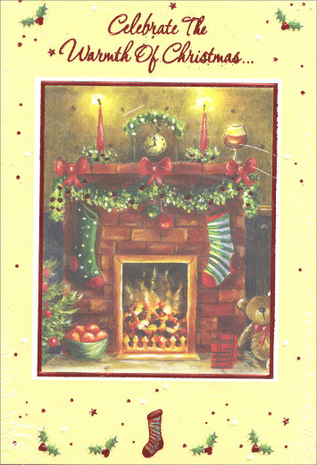 Fire place christmas party invitations 8 pack by designer greetings fire place christmas party invitations 8 pack by designer greetings m4hsunfo