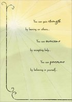 You Can Gain Strength: Overcome Depression (1 card/1 envelope) Designer Greetings Support Card