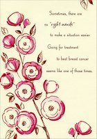 No Right Words: Fight Breast Cancer (1 card/1 envelope) Designer Greetings Support Card