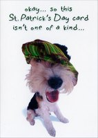 Isn't One of a Kind (1 card/1 envelope) - St. Patrick's Day Card - FRONT: okay� so this St. Patrick's Day card isn't one of a kind�  INSIDE: but the person getting it sure is!  Happy St. Patrick's Day