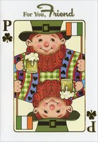Playing Card: Friend (1 card/1 envelope) Designer Greetings St. Patrick's Day Card