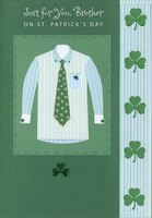 Striped Shirt & Tie: Brother (1 card/1 envelope) Designer Greetings St. Patrick's Day Card