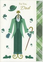 Green Suit: Dad (1 card/1 envelope) Designer Greetings St. Patrick's Day Card