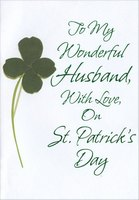 Four Leaf Clover on White: Husband (1 card/1 envelope) Designer Greetings St. Patrick's Day Card