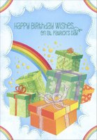 Presents and Rainbow (1 card/1 envelope) Designer Greetings St. Patrick's Day Card