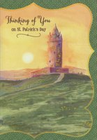 Castle Tower (1 card/1 envelope) Designer Greetings St. Patrick's Day Card