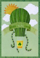 Hot Air Balloon in Sky: Friend (1 card/1 envelope) Designer Greetings St. Patrick's Day Card