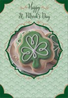 Iced Shamrock Cookie (1 card/1 envelope) Designer Greetings St. Patrick's Day Card