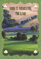 Lush Green Countryside: Mom & Dad (1 card/1 envelope) Designer Greetings St. Patrick's Day Card