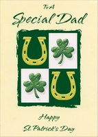 Horseshoes and Shamrocks: Special Dad (1 card/1 envelope) Designer Greetings St. Patrick's Day Card