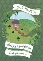 Good Fortune at Your Door (1 card/1 envelope) Designer Greetings St. Patrick's Day Card