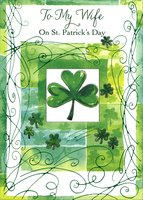 Shamrock Panels: Wife (1 card/1 envelope) Designer Greetings St. Patrick's Day Card