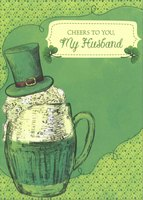 Frosty Mug: Husband (1 card/1 envelope) Designer Greetings St. Patrick's Day Card