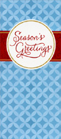 Season Greetings Blue Diamonds (1 card/1 envelope) - Christmas Money & Gift Card Holder - FRONT: Season's Greetings  INSIDE: Good tidings to you for all that you do to bring happiness the whole year through. Season's Greetings
