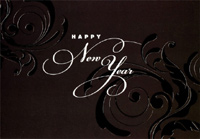 Black & White New Year (1 card/1 envelope) Designer Greetings New Year Card