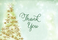 Sparkling Tree - Package of 8 Christmas Thank You Notes