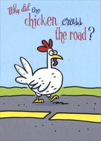 Chicken Crosses Road (1 card/1 envelope) Designer Greetings Funny Easter Card