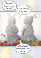 Goes Straight to My Hips (1 card/1 envelope) Designer Greetings Funny Easter Card