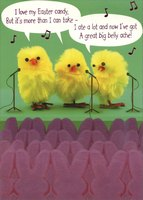 Great Big Belly Ache (1 card/1 envelope) Designer Greetings Funny Easter Card
