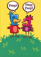 Peeps (1 card/1 envelope) Designer Greetings Funny Easter Card
