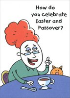 Chocolate Rabbis (1 card/1 envelope) Designer Greetings Funny Interfaith Easter Card