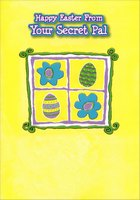 Eggs and Flowers: Secret Pal (1 card/1 envelope) Designer Greetings Easter Card