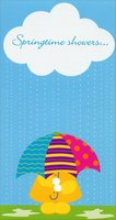Springtime Showers (1 card/1 envelope) Designer Greetings Cute Easter Card