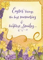 Yellow and Purple Flowers: Friend (1 card/1 envelope) Designer Greetings Friendship Easter Card