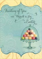 Macaroons under Glass (1 card/1 envelope) Designer Greetings Thinking of You Easter Card