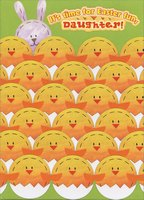 Hatching Eggs and Bunny: Daughter (1 card/1 envelope) Designer Greetings Juvenile Easter Card
