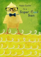 Super Cool Son (1 card/1 envelope) - Easter Card - FRONT: Happy Easter to a Super Cool Son  INSIDE: Easter wouldn't be nearly as happy and fun without an awesome son like you� You make every day so much more special, and you're loved a whole lot, too! Happy Easter