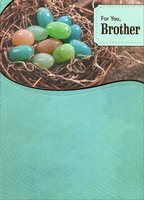 Jellybeans in Basket: Brother (1 card/1 envelope) Designer Greetings Easter Card