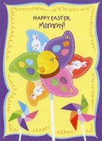 Eggs, Duckling and Bunny Pinwheel: Mommy (1 card/1 envelope) Designer Greetings Juvenile Easter Card