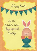 Egg-ceptional Daddy (1 card/1 envelope) Designer Greetings Juvenile Easter Card