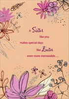 Even More Memorable: Sister (1 card/1 envelope) Designer Greetings Easter Card
