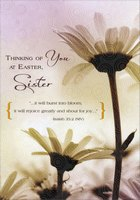 Daisy with Swirls: Sister (1 card/1 envelope) Designer Greetings Religious Easter Card
