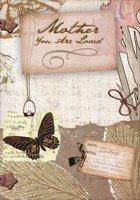Bronze Foil Butterfly Collage: Mother (1 card/1 envelope) Designer Greetings Easter Card