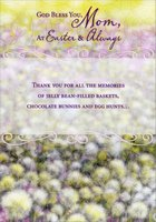 God Bless You Mom (1 card/1 envelope) Designer Greetings Easter Card