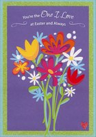Sparkling Floral Bouquet: One I Love (1 card/1 envelope) Designer Greetings Easter Card