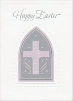 Cross in Silver Archway (1 card/1 envelope) Designer Greetings Religious Easter Card