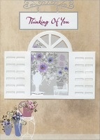 Die Cut Window Frame Handmade: Thinking of You (1 card/1 envelope) Designer Greetings Designer Boutique Mother's Day Card