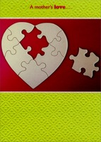 Heart Puzzle (1 card/1 envelope) Designer Greetings Expose Mother's Day Card