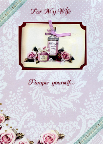 bottle with pink ribbon handmade wife designer boutique