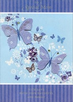 Tip On Butterflies with Gems Handmade: Mom (1 card/1 envelope) Designer Greetings Designer Boutique Mother's Day Card