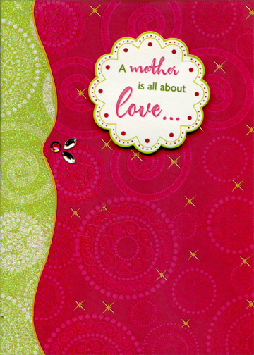Mother is all about love handmade with gems designer boutique mother is all about love handmade with gems designer boutique mothers day card by designer greetings m4hsunfo