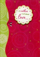 Mother is All About Love Handmade with Gems (1 card/1 envelope) Designer Greetings Designer Boutique Mother's Day Card